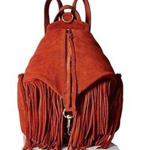 Rebecca Minkoff fringe medium julian backpack clay